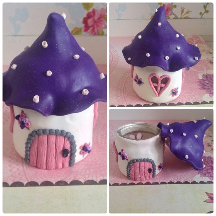 Fairyhouse jar made by www.sweetstuff.nl