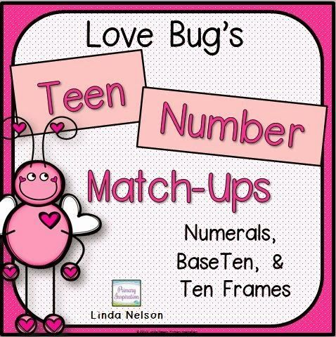 Conquer the tricky teen numbers with this free set of love-able matching cards!