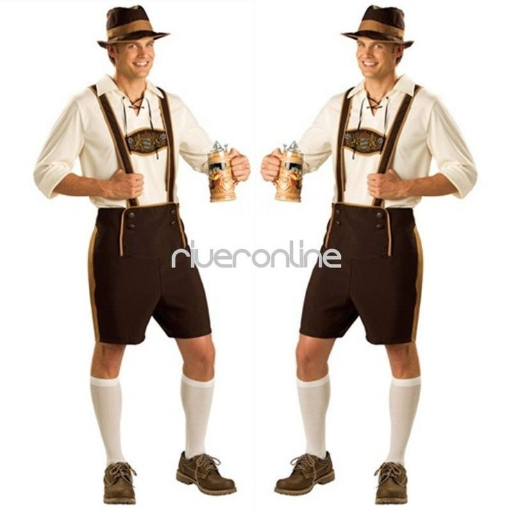 Bavarian German Beer Festival Lederhosen Oktoberfest Men Fancy Dress Costume Set #Fashion #CompleteOutfit #PartyHalloweenMasqueradeOktoberfest
