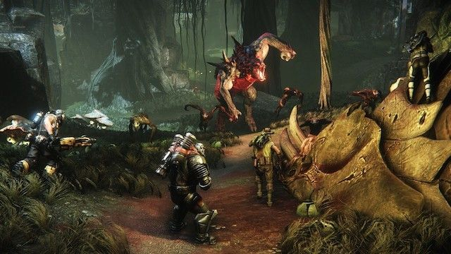 Evolve - 4-v-1 monster hunting where one player is the monster. Hunt or be hunted.