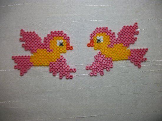 Oiseaux en perles Hama