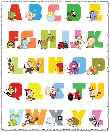 Baby Nursery Art Print Dog Abc Nursery Decor Alphabet Print: Baby Alphabet Letters With Animals Vector