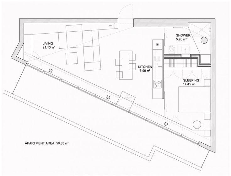 Diseño de casa pequeña en terreno irregular [PLanos] | Construye Hogar