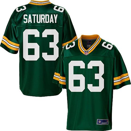 5e5637a63 ... 63 Nike NFL TeamRoad Mens Pro Line Green Bay Packers Jeff Saturday Team  Color Jersey ...