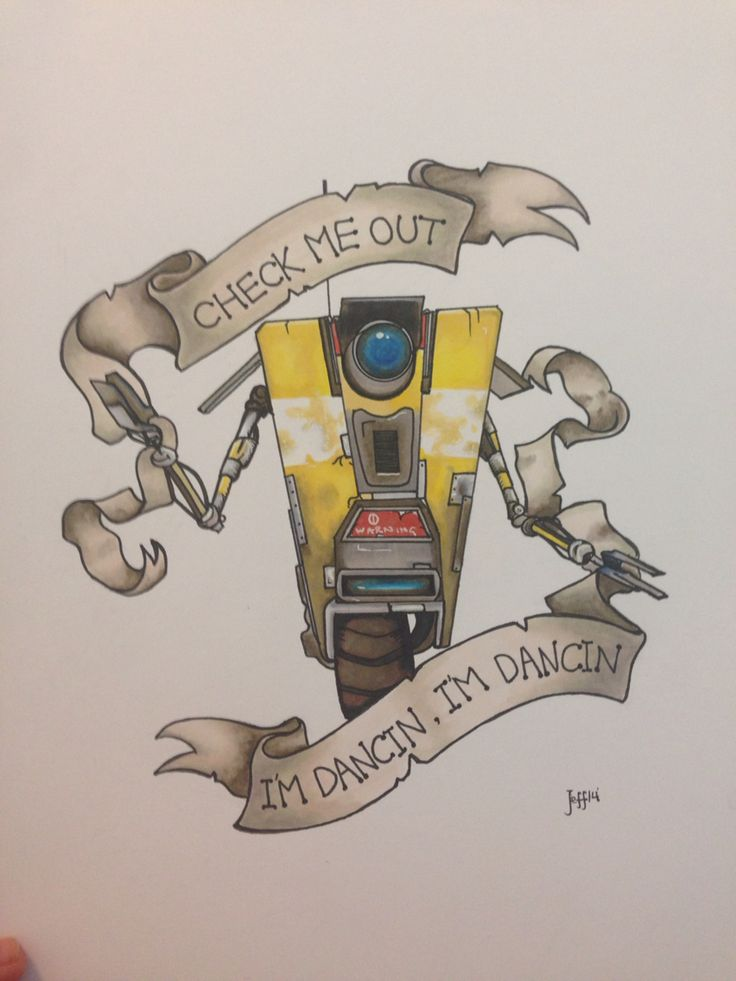 Borderlands tattoo design, claptrap! by Jeffica Avery  Prints and commissions available from http://jefficaalicearts.bigcartel.com