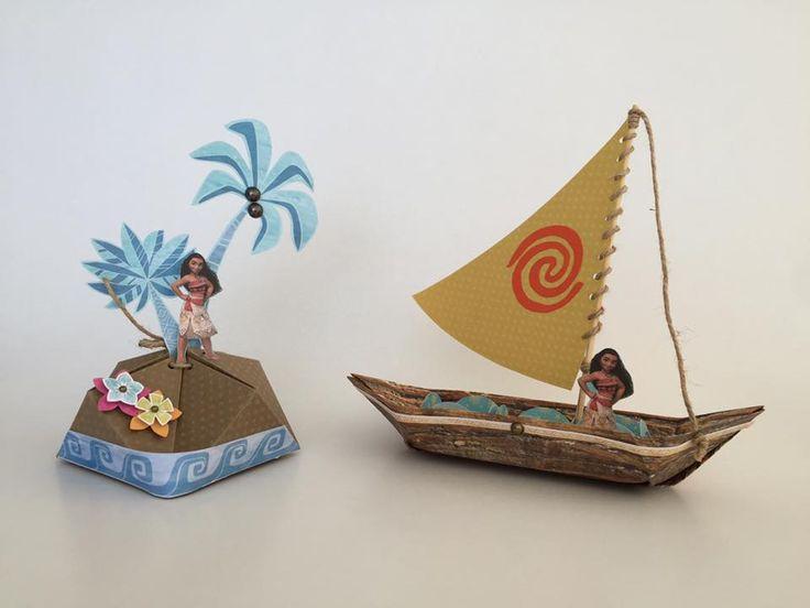 lembranças tema Moana com papéis licenciados Disney