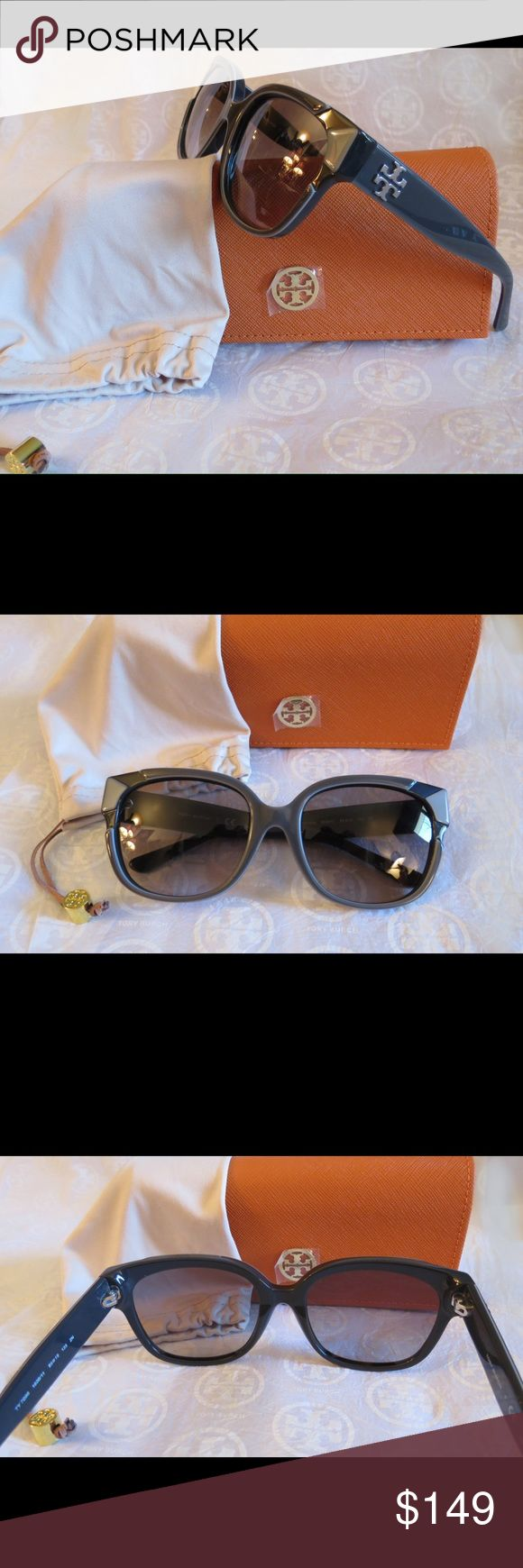 NWT Tory Burch Sunnies Ty7096  Shades of Gray NWT Tory Burch Sunnies Ty7096 1600/11  Different Shades of gray gradient lens and frame   Time for some new fabulous authentic designer shades!!  These are PERFECT Flawless NEVER even worn or tried on. It's just reflections that might make they look like there are issues, they are again Perfect!  Comes with original bag with tags from Luxottica, case and dust bag.  All of my items are Guaranteed 100% Genuine I do not sell FAKES of any kind No…