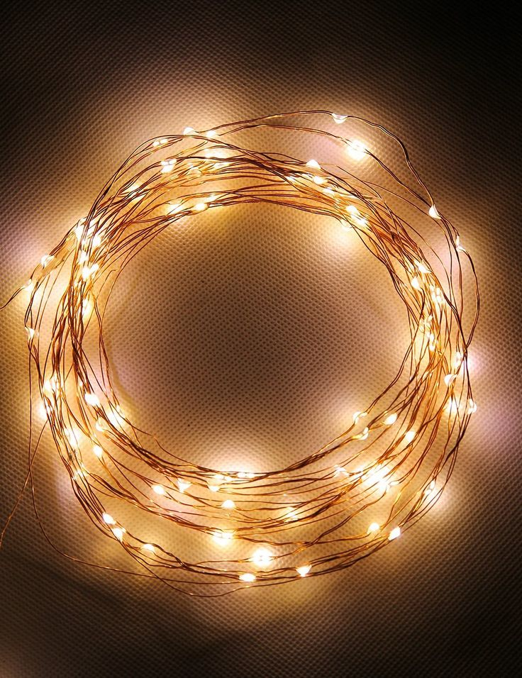 Led String Lights 100 LED Warm White Color on 32ft Wire LED Starry Light
