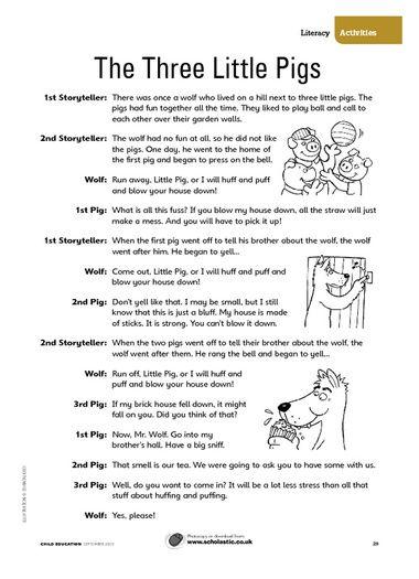 The Three Little Pigs – FREE Primary KS1 teaching resource - Scholastic