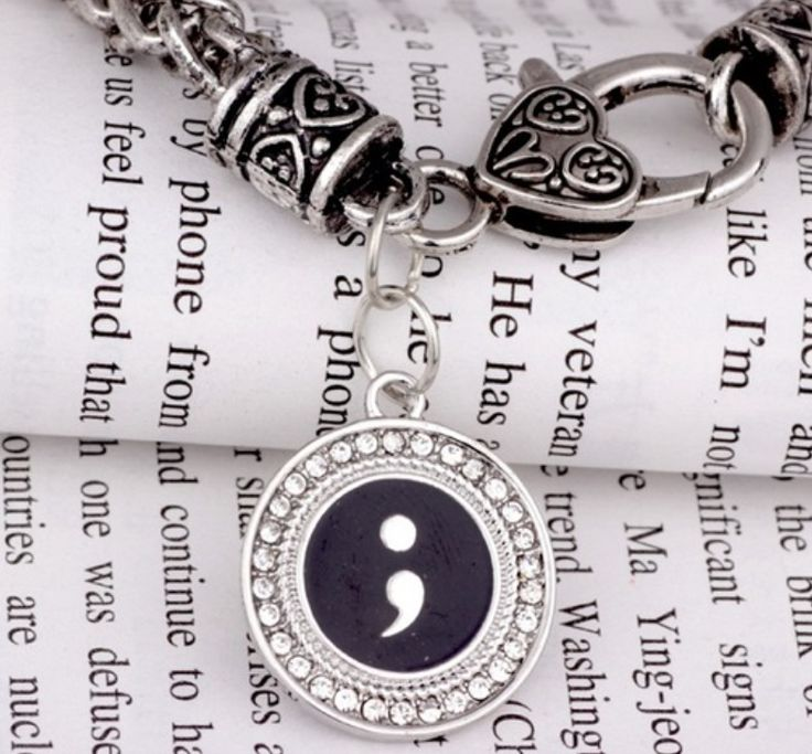 Silver Semicolon Bracelet