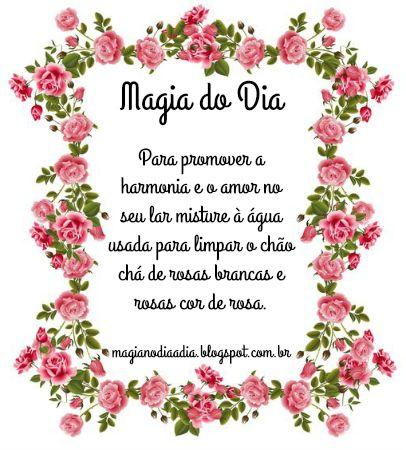 Magia no Dia a Dia: Magia do Dia: rosas na faxina