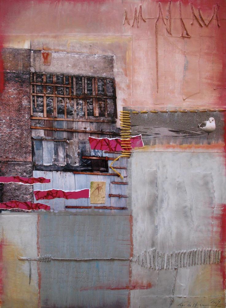 Åse Margrtethe Hansen/Time passing. Mixed media, 2009