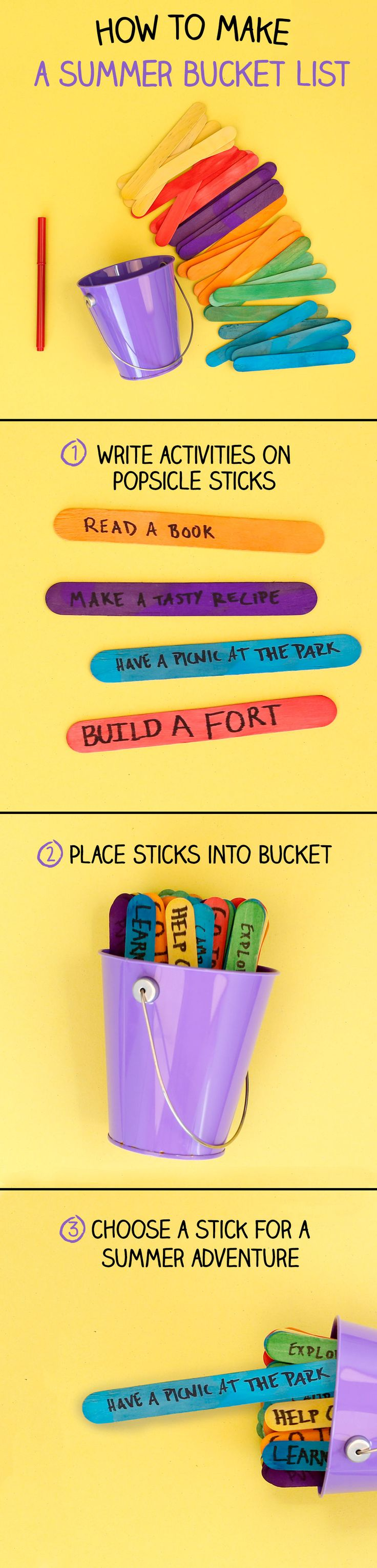 Get inspired with this DIY summer bucket list! Personalize the activities for your child and enjoy quality time together.