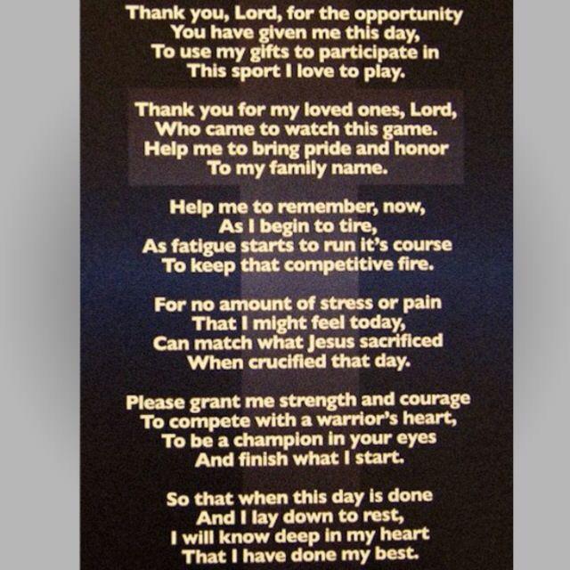 An Athletes Prayer
