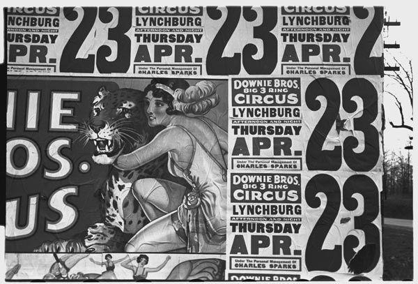 cartazes de propaganda de circo vintage, entre 1879 e 1938,