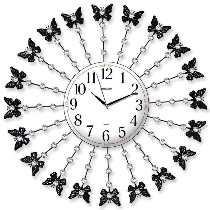Taşlı Ferforje Kelebek Duvar Saati Modeli  Ürün Bilgisi ;  Ürün maddesi : Metal gövde, gerçek cam Ebat : 75 cm  Mekanizması : Akar saniye, sessiz çalışır Garanti : Saat motoru 5 yıl garantili Taşlı Ferforje Kelebek Duvar Saati Modeli Üretim  : Yerli üretim Kullanım ömrü uzundur Kalem pil ile çalışmakta Ürün fotoğrafta görüldüğü gibi olup orjinal paketindedir Sevdiklerinize hediye olarak gönderebilirsiniz