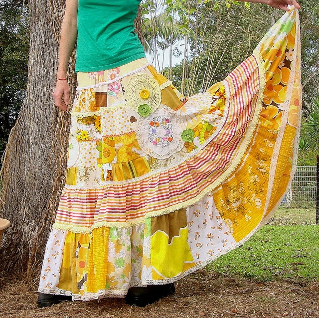 patchwork skirt, can see Kieryn in this!