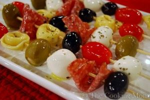 Antipasto Kabobs - The Cooking Mom