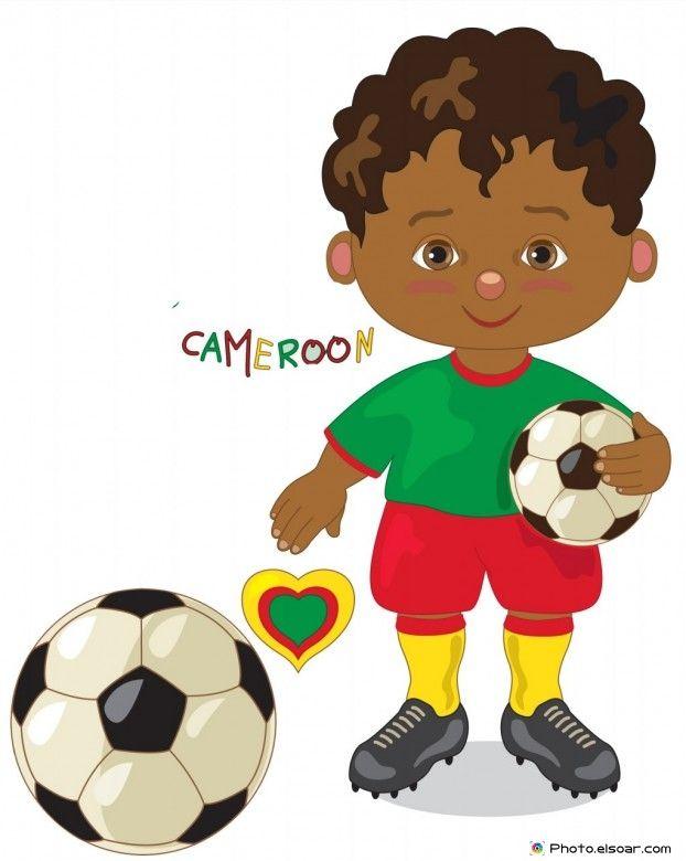 Cameroon National Jersey, Cartoon Soccer Player