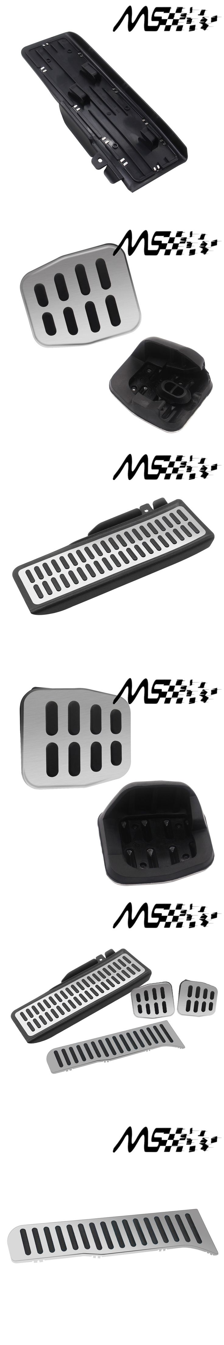 Manual car Stainless Car Pedal For Volkswagen VW Golf 5 6 GTI Octavia Jetta MK5 Scirocco LHD Fuel Footrest Pedals Cover kits
