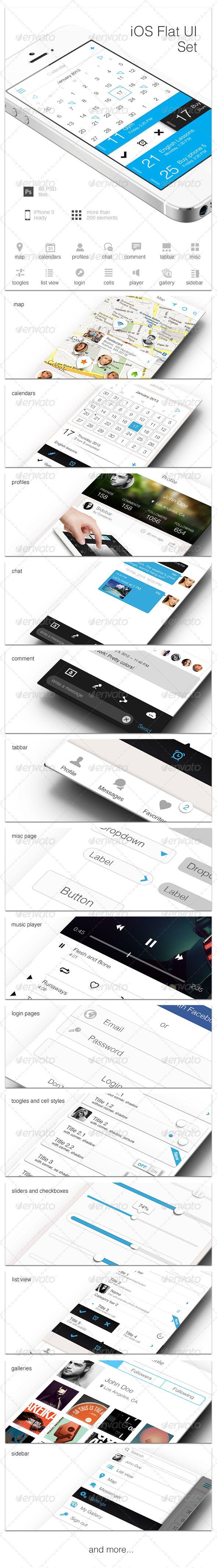 iOS Flat UI Set