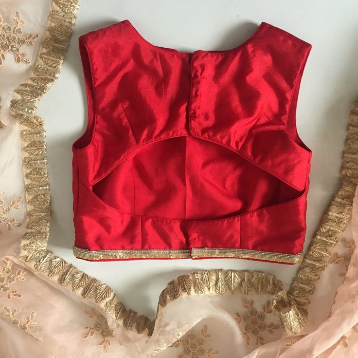 The Scarlet Cut Out Blouse