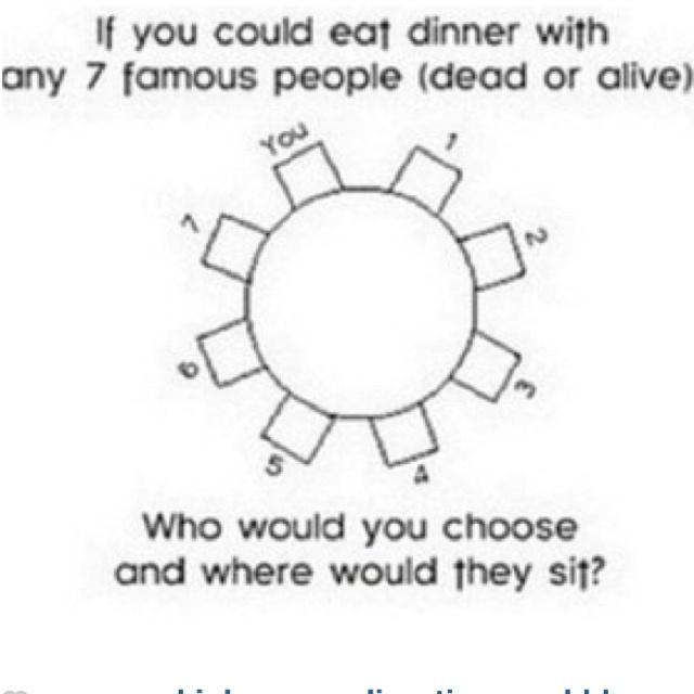 Zayn, Niall, Harry,Louis,Liam, Jessie J, Miley Cyrus. & Cher Lloyd(: yes I put an extra seat!