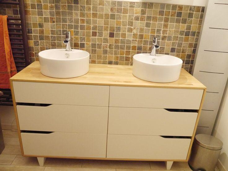 meuble salle de bain double vasque ikea hack bathroom
