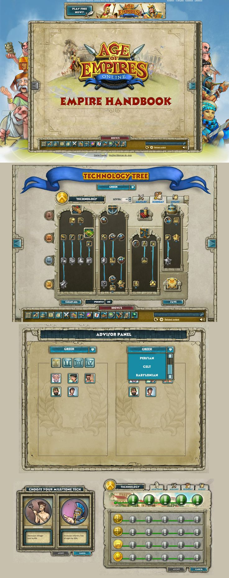 age of empires interface of empire handbook