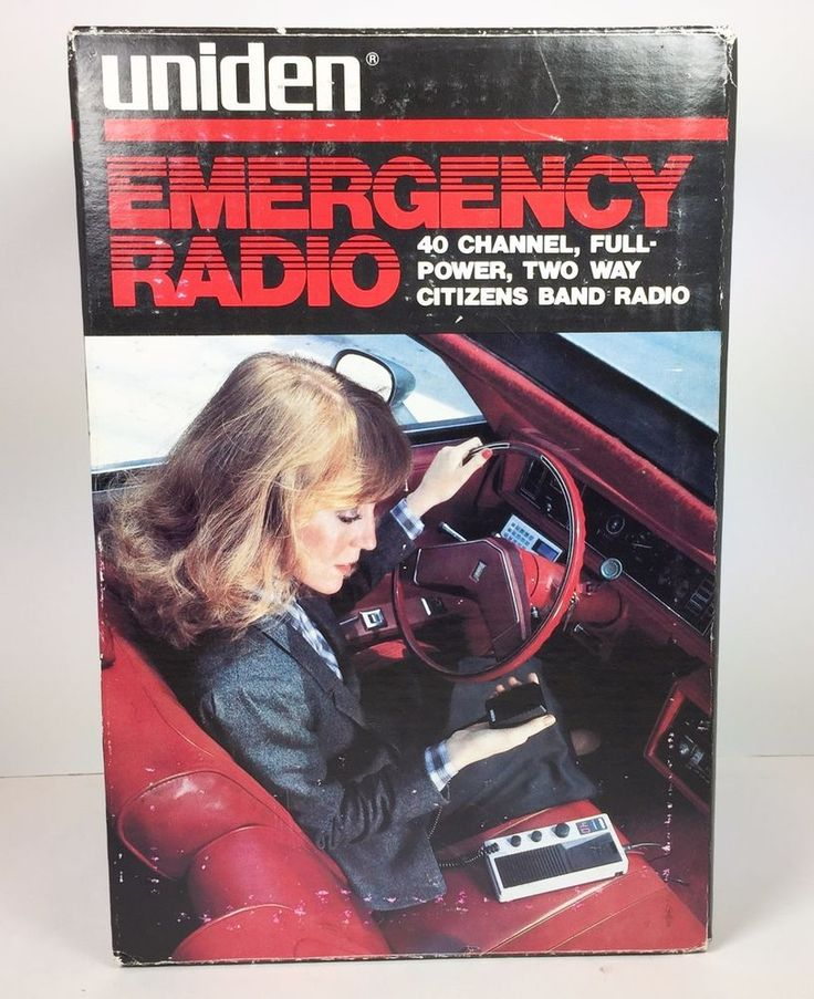 Uniden CB Emergency Radio PC-9 40 Channel Two Way Citizens Band Radio  #Uniden