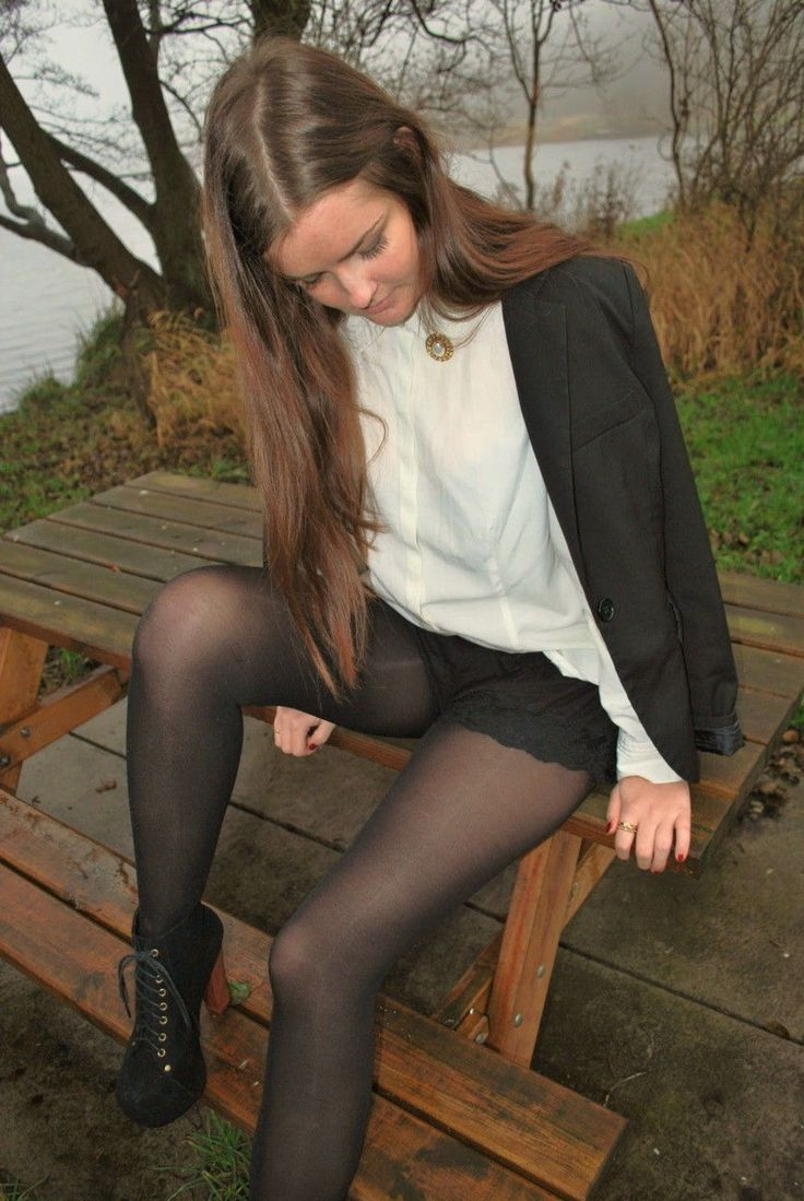 Older women uniform pantyhose