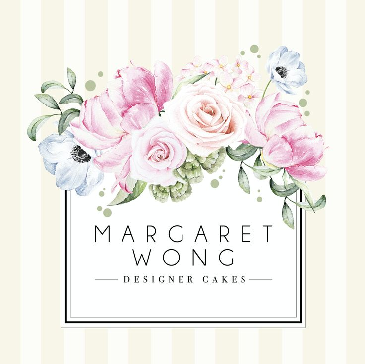 A logo design for Margaret Wong, a cake designer from Hong Kong.