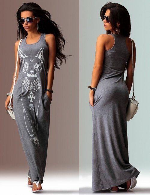 Great casual summer dress for a athletic body type, its loose fitting to mask the rectangle frame but will display those gorgeous arms and slender neck. | How to Dress if You Have an Athletic Figure.