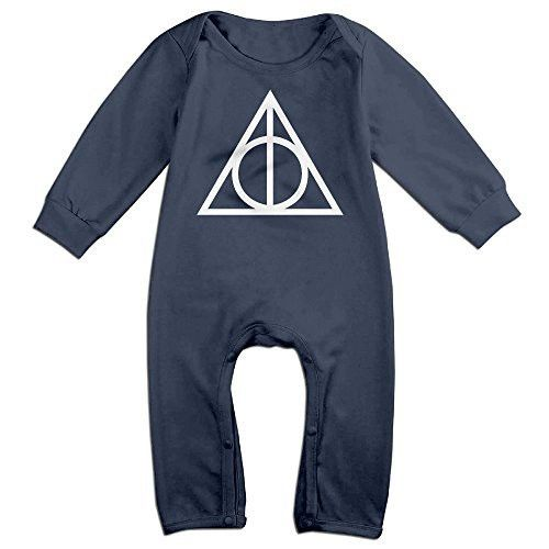 Dara Harry Potter And The Deathly Hallows Newborn Babys Long Sleeve Baby Climbing Clothes Navy 18 Months
