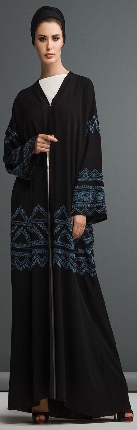 Mauzan abaya Dubai..Kashmiri Design Embroidery.Black crepe