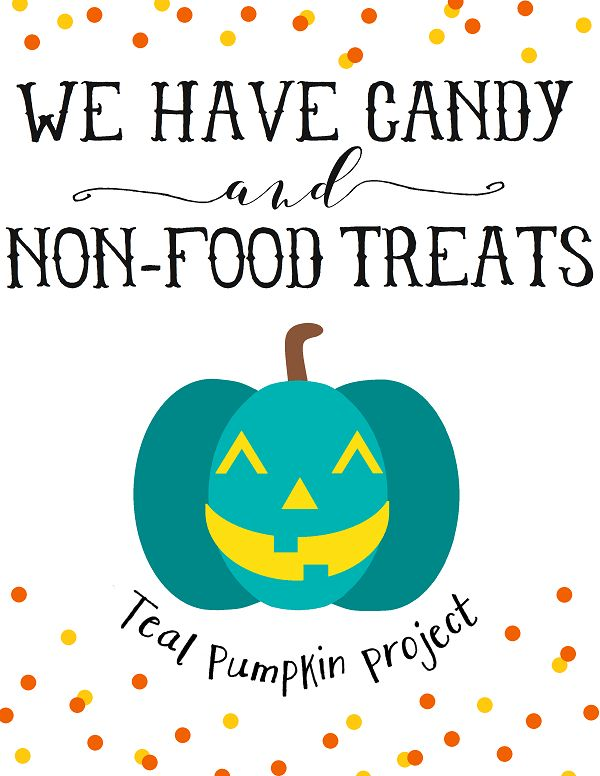 Free Teal Pumpkin Project Printables