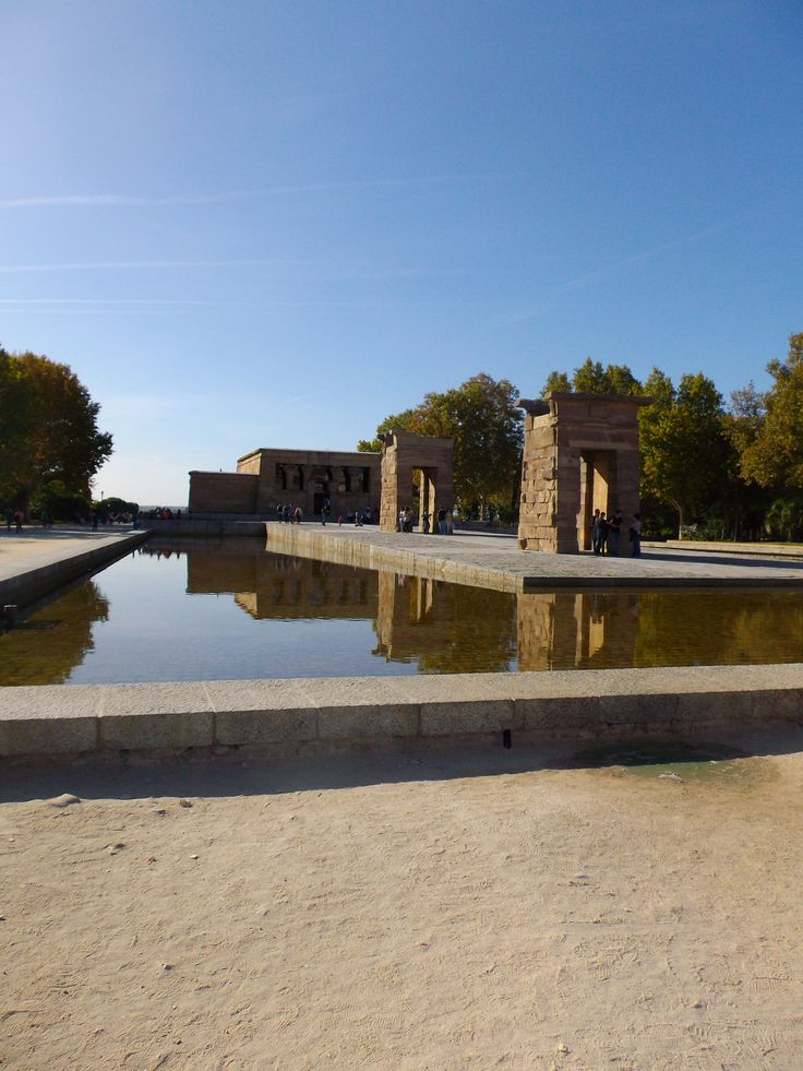 Temple of Debod in Madrid, Spain.  The temple was a gift from Egypt.