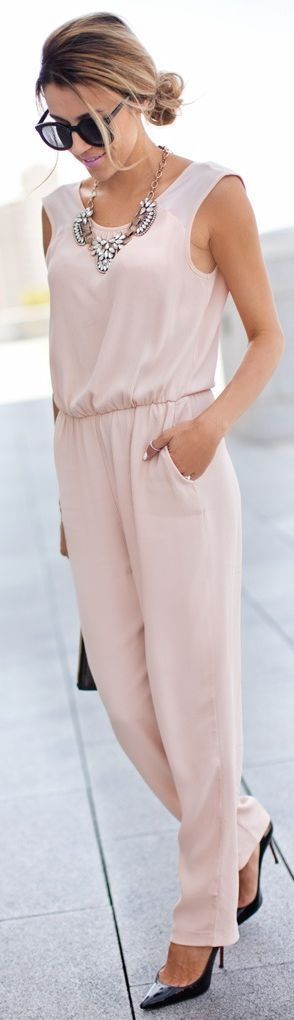 Zara Pale Pink Jumpsuit by Hello Fashion