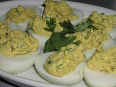 Or this?  No pb in this one (Curry Deviled eggs with cilantro)