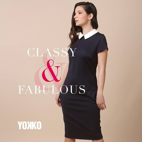 At the office, or at parties, wear dotts! Spring 17 |YOKKO  #dress #dotts #spring #fashion #office #party #style #yokko