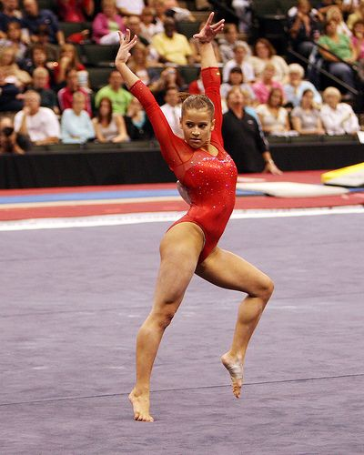 """Wake up every day knowing that today is a new day and only you can determine the outcome of that day. So dream big, accept the challenge, and never look back."" -Alicia Sacramone, 10-time world medalist (2005-11)"