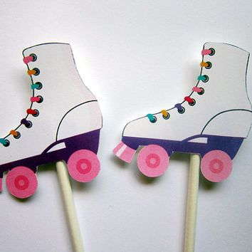 Image result for roller skates party favors                                                                                                                                                                                 Mais