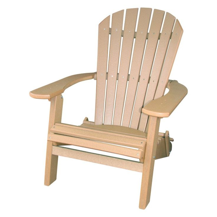Outdoor Phat Tommy Recycled Plastic Deluxe Folding Adirondack Chair Tan - 405-ADIRONPOLY.TAN