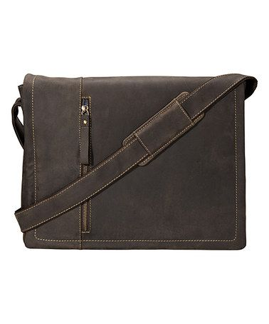 Love this Brown Distressed Leather Laptop Messenger Bag on #zulily! #zulilyfinds