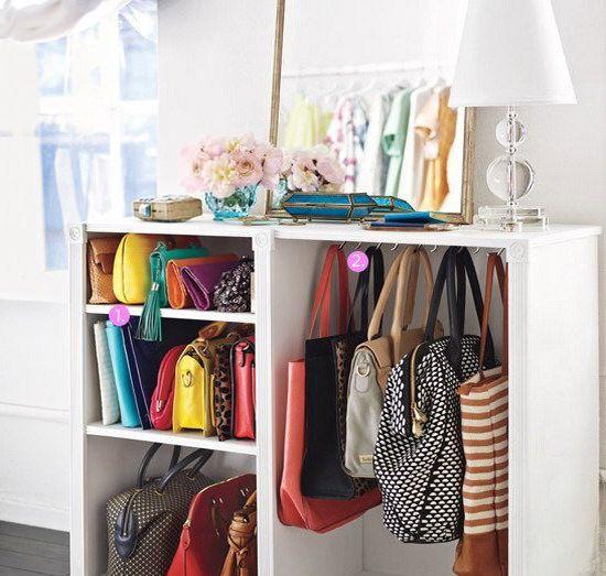 come sistemare le borse nell'armadio | Come ordinare le borse nell'armadio e non solo, con soluzioni ...