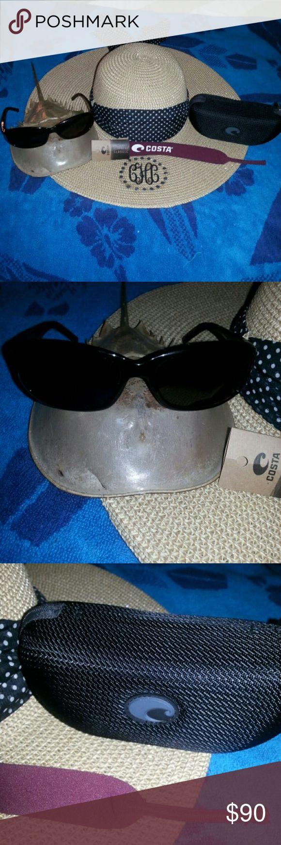 Costa Del Mar Vela Sunglasses EUC Tortoise with case and new strap included Costa Del Mar Accessories Sunglasses