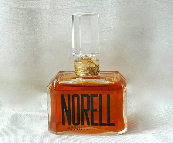 Vintage NORELL by Norell Perfumes 1/2 oz Pure Perfume Crystal Stopper FULL