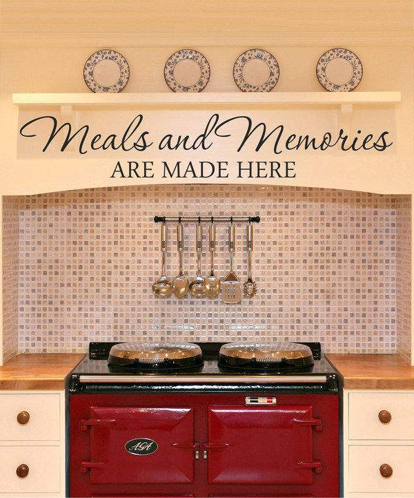 Look at this 'Meals and Memories Are Made Here' Decal on #zulily today!