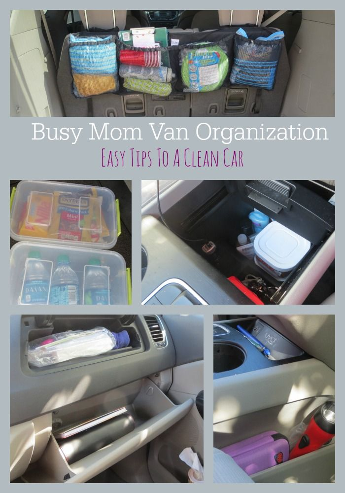 Happily A Housewife: Mini Van Organization
