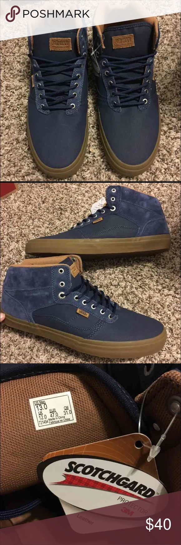 NEW 👀 Vans Bedford Gum sole Mid Top Suede Navy Never worn! Comes with original box! Great condition! Real Suede!   This is a dead stock! No longer in production!   RARE FIND IN UNWORN CONDITION!   Price is negotiable to an extent! :)  Best offers only please!   Check out the rest of my page for MORE Vans shoe Styles for sale! I love to bundle and save on shipping, comment to find out more! Vans Shoes